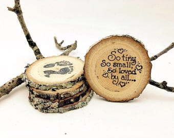 65 Country Baby Shower Magnets Favors Reclaimed Branch Table Markers Woodland Decor Arts Crafts Table Decor