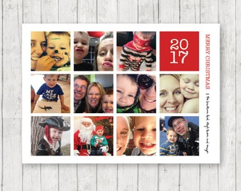"""2017 Christmas Card - DIGITAL DOWNLOAD - 5"""" x 7"""" - Instagram Collage"""