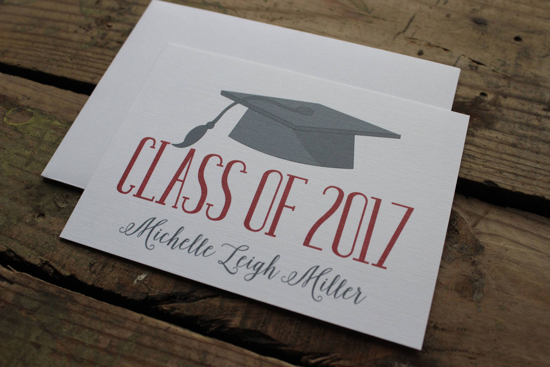 graduation thank you cards custom school colors high school