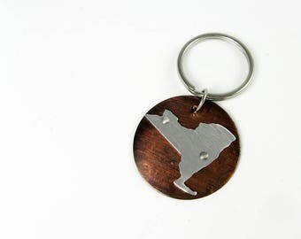 New York Key Chain - Moving or New Homeowner Gift - U.S. State Key Chain
