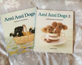 2x Ami Ami Dogs Seriously Cute Crochet by Mitsuki Hoshi Amigurumi Books