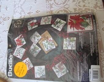 Bucilla Christmas Ornament Counted Cross Stitch Kit