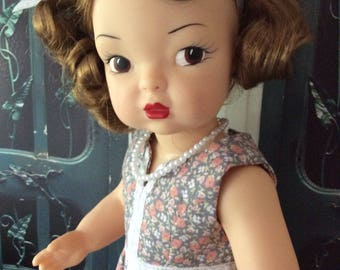 Custom Summer Dress and Necklace for Vintage Terri Lee Dolls Handmade in USA  One of a Kind