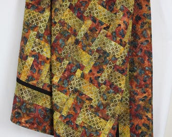Lap Quilt.  Twin. Painted Desert western southwestern.  Rustic. Cowboy. Old West.  Red Rocks. Gold Hills.  Lava Rock. Granite.  Earthy.