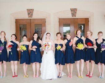 RESERVED for canam711 - Navy Convertible Dresses