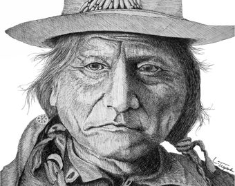 Sitting Bull- 11 x 14 Matted Print