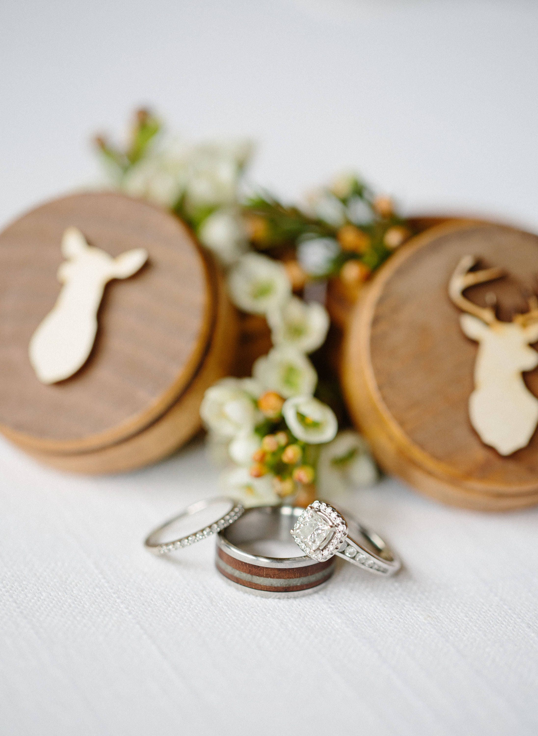 Buck and Doe Head Ring Box Set Country Wedding Camo Wedding Buck