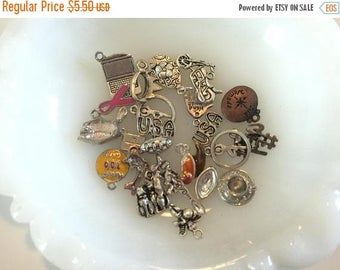 SUMMER SALE Destash  Craft Lot of  Vintage and Salvaged Assorted Charms and Pendants