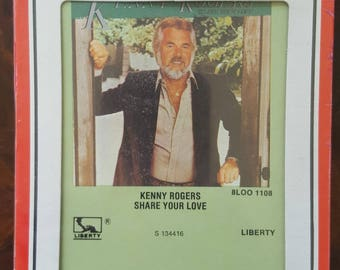Kenny Rogers Share Your Love Liberty S134416 New Sealed Vintage 8-Track Tape