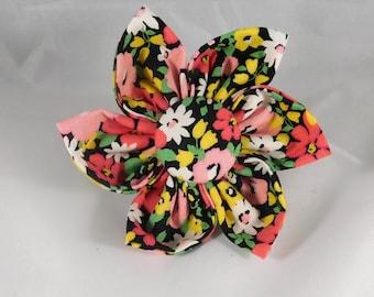 Dog Flower, Dog Bow Tie, Cat Flower, Cat Bow Tie - Flower Bunch, Red