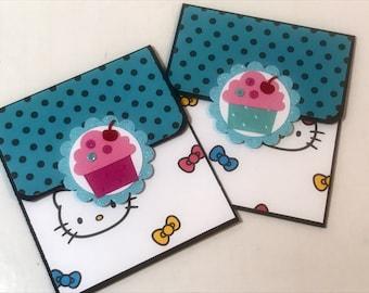 Hello Kitty giftcard holders (2) birthday gift
