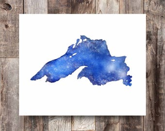 Stars Over Superior, Lake Superior Art, Lake Superior Print, Great Lakes Art, Great Lakes Painting, Great Lakes Print, North Shore, Big Lake