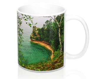 Miner's Castle Coffee Mug, Pictured Rocks, Pictured Rocks Photo, Upper Peninsula, Lake Superior, Michigan Gift, National Parks, Coffee Cup