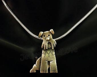 Sterling Silver Miniature Schnauzer Necklace - Murphy