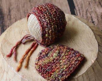 Newborn Cross Hatch Bonnet