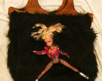 furry doll handbag