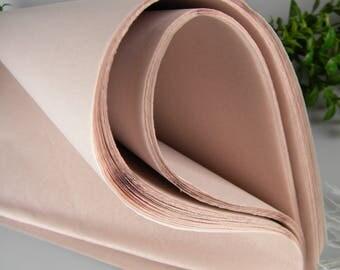 "BULK SALE 240 sheets Dusty Blush Tissue Paper, Pale Blush Wedding Decor, Blush Gift Packaging, 20"" X 30"" DIY Flowers & Garland Tissue"