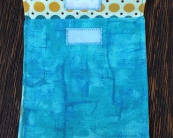 Reusable Snack Bag, Eco-Friendly Lunch Bag, Washable Bag, School Lunch Pouch