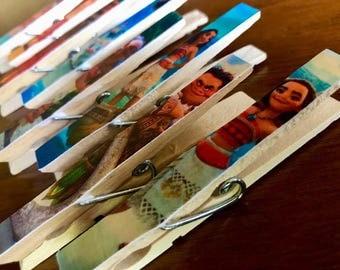 Moana Fish Extender Gift Magnets - Moana Birthday Party Favors Treat Bags - Disney Fish Extender - FE