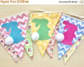 ON SALE NEW Baby Bunting, Fabric Banners, Garlands, Easter, Rabbit, Bunny, Spring -   (Ready to ship)