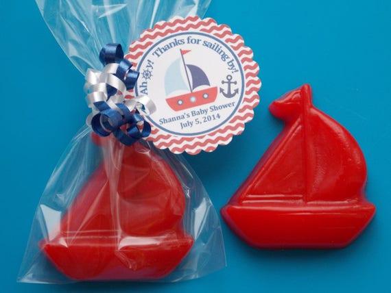 15 SAIL BOAT SOAP Favors Nautical Birthday Nautical Baby Shower