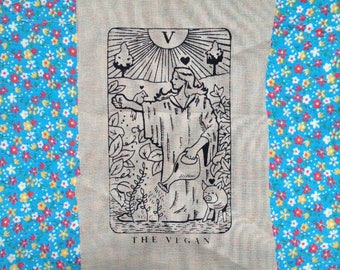 VEGAN tarot card PATCH the lover of all things animal and plant