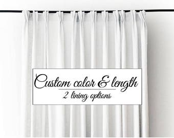 4 Linen curtain panels with pinch pleat top - TOP UP