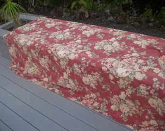 OLD FLORAL YARDAGE from a curtain panel?