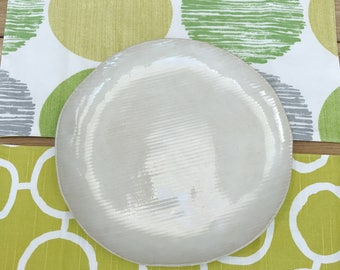 Reversible Placemats - Green Freehand Circles with Big Dots