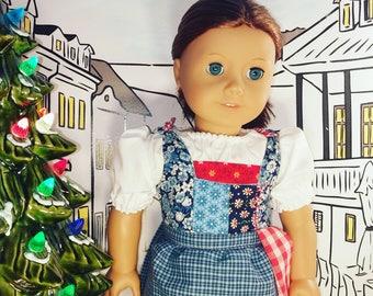 18 Inch Doll Dress Belle Inspired Village Dress Rose Bud