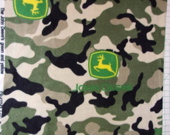 2 yards plus John Deer Camouflage Fleece CLEARANCE