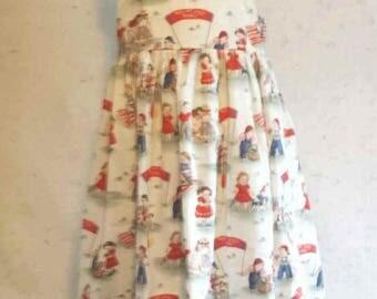 Girls July 4th Picnic Dress Size 4-5