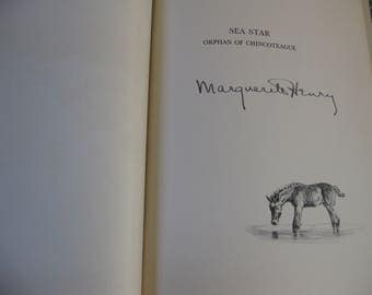 Marguerite Henry Signed Book Sea Star Orphan Of Chincoteague