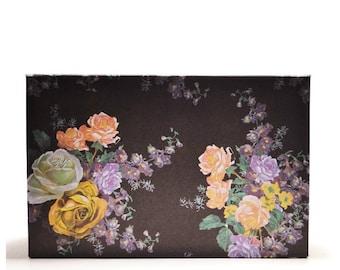 Empty magnetic makeup palette custom storage anothersoul basic paper black flower