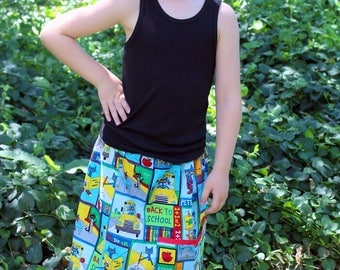 Pete the Cat   Skirt with 2  side pockets     ( 2T, 3T, 4T, 5, 6, 7, 8, 10)