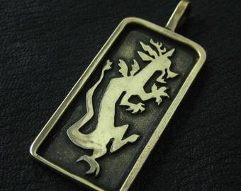 Bronze Discord pendant