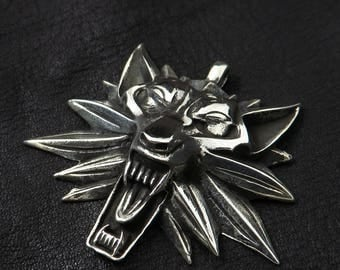 Silver Witcher medallion