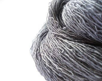 Hand dyed Merino Silk Lace yarn hand painted: Carbon