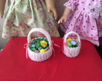 Easter Basket -Choice of Size - sized for American Girl / Wellie Wisher or Similar