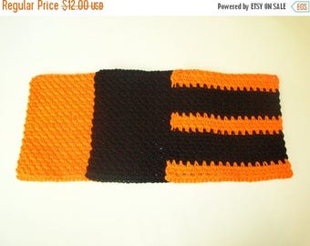 Christmas In July Sale Dishcloths Set - Trick or Treat - Set of 3 in Orange, Black, and Orange/Black Stripes