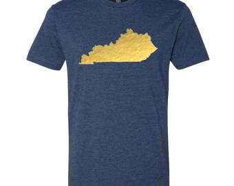 Vintage Gold Foil Kentucky Tee- Three color options