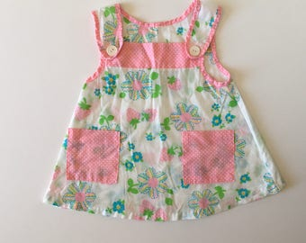 1960's Flowers & Strawberries Dress/Top (2t/3t)