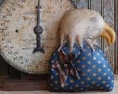 Primitive Americana Eagle Tuck, Primitive Handmade Folk Art