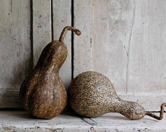 Primitive Fabric Gourds, Halloween, Fall Harvest Decor