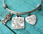 mother of the bride gift from bride, wedding gift for mom from daughter, wedding party jewelry, brides mom gift, bridal gift, mom bracelet