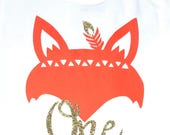 Cute Fox Woodland Onesie - Personalized