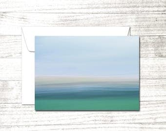 Minimalist Note Card | impressionist photograph | Greeting Card | Riverscape | Abstract Note Card | Abstract Art