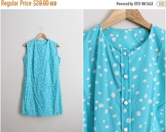 20% OFF SALE // Vintage 60s Polka Dots Romper Shorts - Dress / Playsuit / Mod Jumpsuit /Size S/M