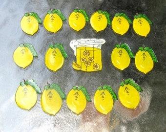 Shrinky Dink Lemonade Pitcher and Lemons Charms