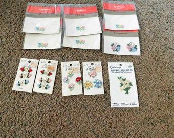 Vintage Appliques  Lot of 21 Flowers  NEW  Non Smoking Home   Sale Destash  12